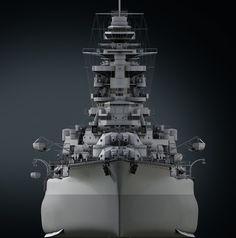 IJN Nagato by Dmitriy Mironov on ArtStation. Imperial Japanese Navy, 3d Modelle, Navy Military, Military Modelling, Nagano, Navy Ships, Aircraft Carrier, Battleship, World War I