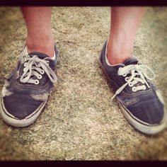 Totally had a pair like this...that I got at a thrift store in middle school. Couldn't afford new, but mine were already broken in!  Authentic Vans