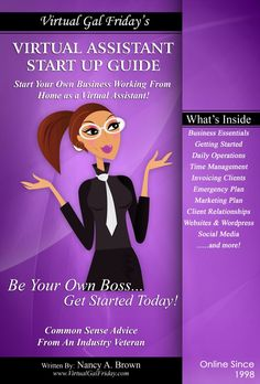 Virtual Assistant Start Up Guide - Full Color PDF Ebook Version.