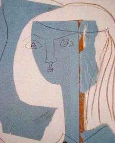 Picasso's palette #blue #ivory #orange