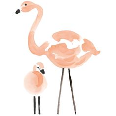 Sticker les flamants roses Flamingo by Lucie Bellion :
