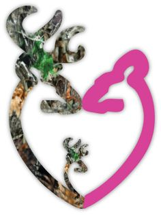 For my two bucks!    Browning Heart Buck Deer Camo Baby Boy and Doe by stickerscrate, $3.00