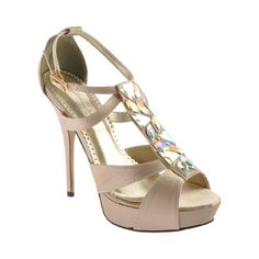 Jonathan Kayne Antarctica Champagne Taupe High Heel Pump Pageant Prom Woman Shoe