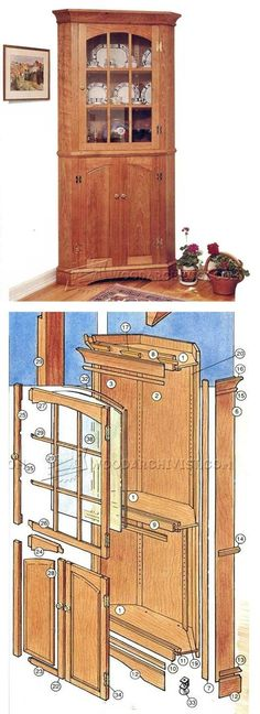 Corner Cupboard Plans - Furniture Plans and Projects | WoodArchivist.com