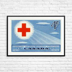 Red Cross Red Cross International Conference by CanadaStampArt Canadian Red Cross, American Red Cross, Canadian Art, Canada Post, Cross Art, Historical Art, Nurse Gifts, Poster Size Prints, Conference