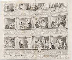 851.00.00.01 Cruikshank, George, 1792-1878, printmaker. The opera boxes during the time of the great exhibition! [London] : Pubd. by D. Bogue, 86 Fleet St., [1851?]