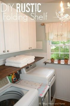This one hometalker made a rustic shelf for folding!