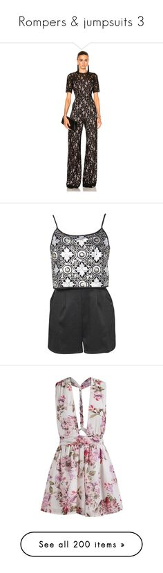 """""""Rompers & jumpsuits 3"""" by hallierosedale ❤ liked on Polyvore featuring jumpsuits, rompers & jumpsuits, playsuit jumpsuit, lace romper, lace jumpsuits, playsuit romper, cut out jumpsuit, rompers, playsuit and dresses"""