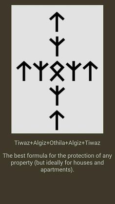 Protection of the house – Norse Mythology-Vikings-Tattoo Norse Runes, Rune Viking, Norse Pagan, Norse Mythology, Alphabet Symbols, Rune Symbols, Magic Symbols, Ancient Symbols, Egyptian Symbols