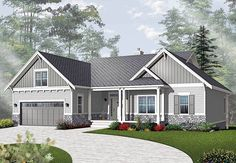 Airy Craftsman-Style Ranch - 21940DR | Architectural Designs - House Plans