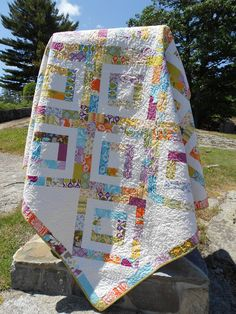 """20% Off Coupon Code - Quilt Pattern PDF - Iphigenes Walk Jelly Roll Quilt Pattern 72"""" x 72"""". $9.00, via Etsy."""