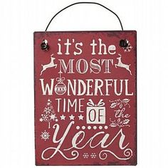 The Most Wonderful Time Metal Sign Small