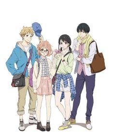 kyoukai no kanata, anime, and manga image Otaku Anime, Kyoani Anime, Fanarts Anime, Anime Love, Anime Characters, Anime Art, Fanart Manga, Manga Art, 5cm Per Second