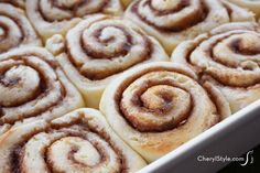Gluten-free cinnamon rolls with cream cheese icing - CherylStyle