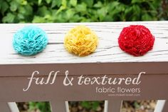 full and textured fabric flowers tutorial