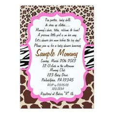 Sassy pink leopard print baby shower invitations leopard print animal print baby shower invitation filmwisefo