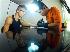 Tatuagem(Tattoo)caveira em aquarela(watercolor tattoo skull)-by Roger Ma...