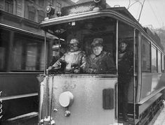 Spårvagn i snöväder 1908.