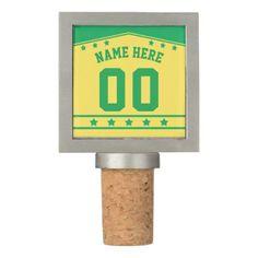 Sports Jersey Template Wine Stopper Lacrosse Wine Stopper - template gifts custom diy customize