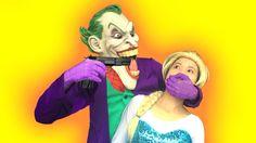 Rescue Frozen Elsa escape Joker vs Maleficent Spiderman vs Batman Die