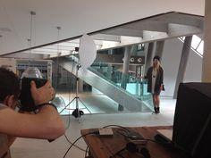 On set @ecoarea with Ewe Ice model