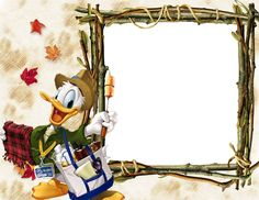 Donald Duck photo frame templates PSD material download free