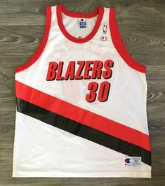 a4cbe1639 RASHEED WALLACE Portland Trail Blazers Jersey Vintage 90 s Champion  White  Mesh Rip City Shirt Basketball NbA Men 52 XXL Excellent