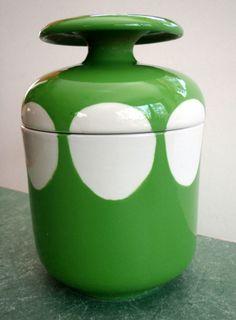Vintage Mid-Century Modern Mancioli Art Pottery Jar/Canister, Raymor Era, Italy