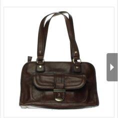 "Selling this ""ETIENNE AIGNER Brown Leather East West Handbag"" in my Poshmark closet! My username is: carirangel. #shopmycloset #poshmark #fashion #shopping #style #forsale #Etienne Aigner #Handbags"