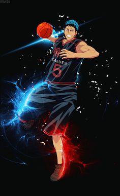 Kuroko No Basket Characters, Anime Characters, Aomine Kuroko, Blue Roses Wallpaper, Slam Dunk Anime, Steven Universe Movie, Basketball Anime, Handsome Anime Guys, Sports Art