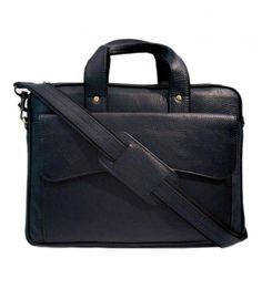 Leather Express Office Laptop Bag Black