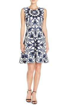 Taylor Dresses Print Scuba Fit & Flare Dress available at #Nordstrom