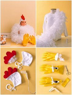 Do It Yourself: Chicken Costume.  This might be the cutest thing I have ever seen. Saw this on my neighbor's son