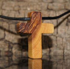 Olive wood cross by OliveWoodJewellery on Etsy, $12.00