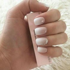 The Best Nail Art Designs – Your Beautiful Nails Gorgeous Nails, Pretty Nails, Wedding Nails Design, Wedding Manicure, Bride Wedding Nails, Wedding Gel Nails, Natural Wedding Nails, Wedding Hair, Hair For Bride