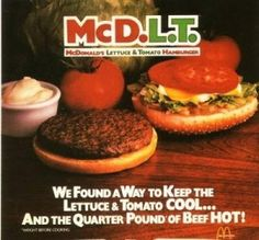 McDLT - I worked for McDonald's when these came out. On the cold side, it was mustard, ketchup, onion, pickle, lettuce, mayonnaise, cheese, and then tomato. Precisely in that order.