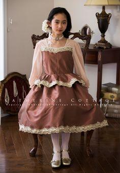 c1a41677a305a 商品番号: PC586 子供ドレス クラシカルレースのぺプラムドレス 長袖 発表会 結婚