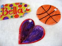 Shrinky Dinks made with recycled #6 plastic