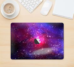 """The Vivid Pink Galaxy Lights Skin Kit for the 12"""" Apple MacBook from DesignSkinz"""