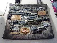 reusing denim...love the use of the belt loops!