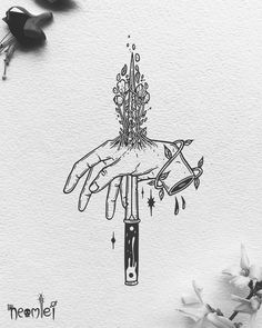 Kunst Tattoos, Tattoo Drawings, Art Drawings, Illustration Main, Black And White Illustration, Minimalism Living, Bad Art, Object Drawing, Tips And Tricks