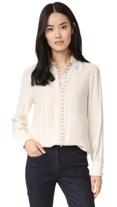 FRAME Victorian Button Up Blouse