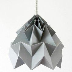 origami lampenschirm anleitung grau