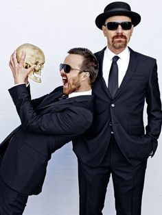 Breaking Bad - Jesse Pinkman (Aaron Paul) and Walter White (Bryan Cranston). My all-time favourite characters from my all-time fave show. Movies And Series, Movies And Tv Shows, Tv Series, Walter White, Best Tv Shows, Best Shows Ever, Pulp Fiction, Serie Breaking Bad, Breking Bad