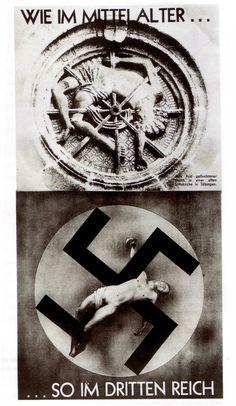 John Heartfield, Comme au Moyen-Âge… sous le 3ème Reich, 1934. Proposé en Arts Plastiques. Arts visuels