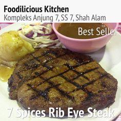 #bestseller #7spices #ribeye #steak #yummy #delicious #food_magazine #foodilicious #foodiliciouskitchen #jjcmtv3 #shahalam #1 #halal #westernfood #tripadvisor
