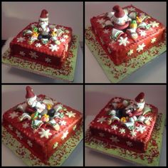 My first novelty Christmas cake completed yesterday