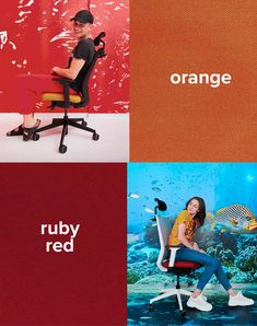 Ruby red or orange? Coworking Space, Ruby Red, Easy, Meet, Orange, Modern Office Spaces, Modern Living, Workplace