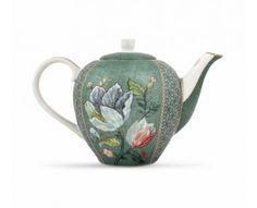 Enjoy a colourful tea party with this Spring to Life teapot from Pip Studio. Made in the brand's iconic whimsical style, it is adorned in a green floral pattern and finished with chic gold detailing