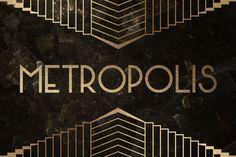 Metropolis Typeface by Tugcu Design Co. on @creativemarket. Price $10